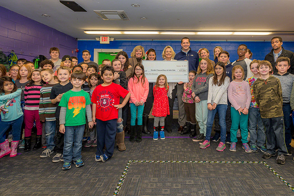 Martha's Vineyard Teddy Bear Suite Fundraiser Presents $35,000 Check To Martha's Vineyard Boys & Girls Club To Fund New Childhood Hunger Program