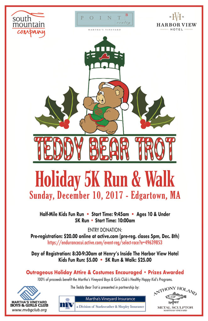 Advance Registration: Teddy Bear Trot 5K Run & Walk Fundraiser Martha's Vineyard Teddy Bear Suite