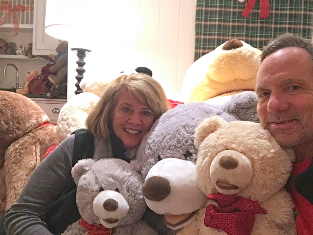 Teddy Bear Suite Co-Founders Wendy Harman and Win Baker - Donate Now
